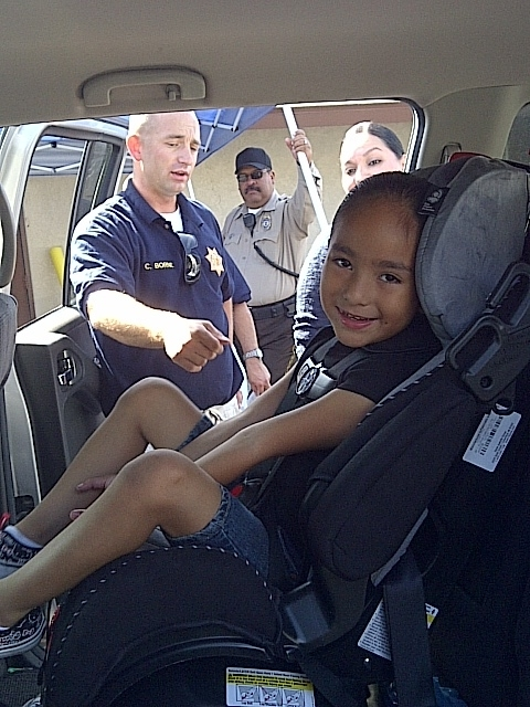 Lani at the car seat check on Oct. 22