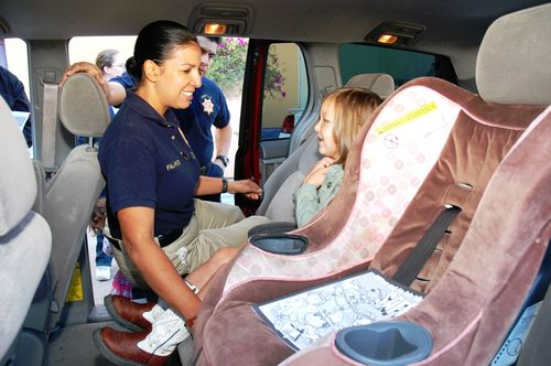 CHP car seat check up in Burbank CA
